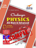 SAMPLE  Challenger Physics for JEE Main   Advanced with past 5 years Solved Papers ebook  12th edition