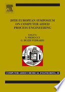 20th European Symposium Of Computer Aided Process Engineering Book PDF