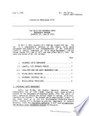 New Solid and Hazardous Waste Management Program  Chapter 377  Laws of 1977