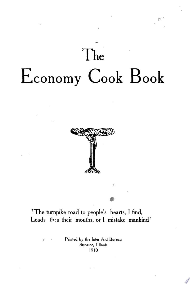 The Economy Cook Book banner backdrop