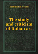 Pdf The study and criticism of Italian art Telecharger