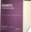 Diabetes Literature Index