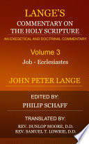 Lange S Commentary On The Holy Scripture Volume 3