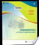 Fundamentals of Title IV Administration Workshop Agenda