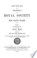 Free Journal and Proceedings of the Royal Society of New South Wales Book