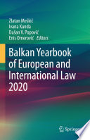 Balkan Yearbook of European and International Law 2020 Book