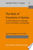The Role of Functions in Syntax Book