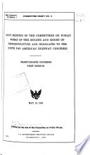 Hearings  Reports and Prints of the Senate Committee on Public Works Book