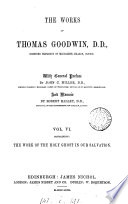 The Works of Thomas Goodwin  The work of the Holy Ghost in our salvation