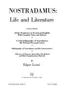 Nostradamus  Life and Literature