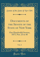 Documents of the Senate of the State of New York  Vol  2