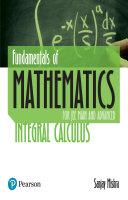 Fundamental of Mathematics Integral calculus