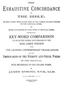 The Exhaustive Concordance of the Bible Book
