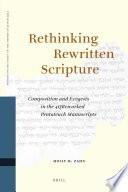 Rethinking Rewritten Scripture