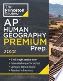 Princeton Review AP Human Geography Premium Prep  2022 Book