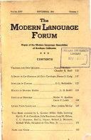 The Modern Language Forum