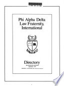 Phi Alpha Delta Law Fraternity, International Directory