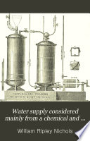 Water Supply Considered Mainly from a Chemical and Sanitary Standpoint Book PDF