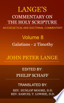 Lange s Commentary on the Holy Scripture  Volume 8
