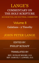 Lange's Commentary on the Holy Scripture, Volume 8