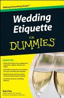 Pdf Wedding Etiquette For Dummies