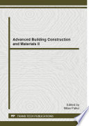 Advanced Building Construction and Materials II