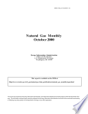 Natural Gas Monthly October 2000 Book PDF