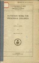 Nutrition Work for Preschool Children