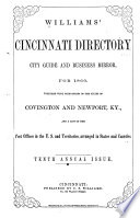 Williams' Cincinnati Directory ...