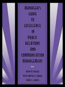 Manager's Guide to Excellence in Public Relations and Communication Management Pdf/ePub eBook