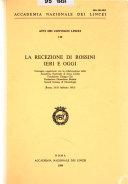 La Recezione Di Rossini Ieri E Oggi