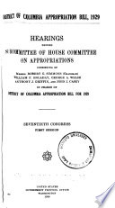 District of Columbia Appropriation Bill  1929