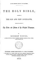 Pdf The holy Bible, tr. by R. Young