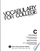 Vocabulary for College