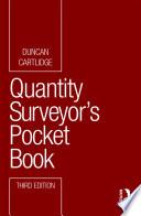Quantity Surveyor s Pocket Book