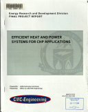 Efficient Heat and Power Systems for CHP Applications