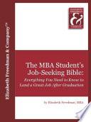 The MBA Student s Job Seeking Bible