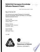 Nasa Dod Aerospace Knowledge Diffusion Research Project Report Number 45 The Technical Communications Practices Of U S Aerospace Engineers And Scientists Results Of The Phase 3 U S Aerospace Engineering Educators Survey