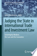 Judging the State in International Trade and Investment Law Pdf/ePub eBook