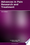Advances in Pain Research and Treatment  2012 Edition
