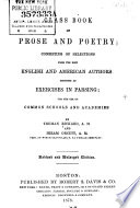 Class Book Of Prose And Poetry