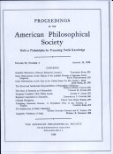 Proceedings  American Philosophical Society  vol  98  no  4