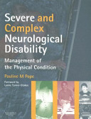 Severe And Complex Neurological Disability Book PDF
