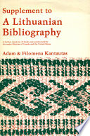 Supplement to A Lithuanian Bibliography