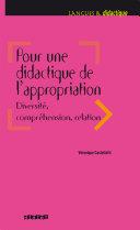 Pdf Pour une didactique de l'appropriation, diversité, compréhension, relation - Ebook Telecharger