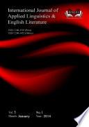 International Journal of Applied Linguistics and English Literature  IJALEL  Vol  3  No 1   2014 Book