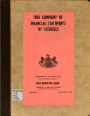 Summary of Financial Statements of Licenses Book