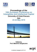 Eciic 2019 Proceedings Of The 10th European Conference On Intangibles And Intellectual Capital