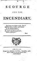 Pdf A Scourge for the Incendiary