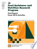 Food Assistance and Nutrition Research Program Final Report